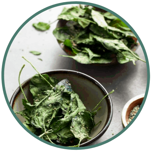 spinach snack